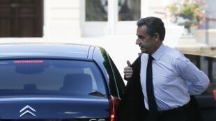 O ex-presidente Nicolas Sarkozy, em foto de 25 de junho de  2014, em Paris.