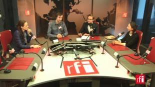 В студии RFI Оксана Юшко, Артур Бондарь, Денис Стрелков и Ирина Попова (слева направо).