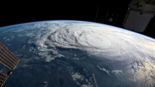 图为飓风哈维在2017年扫过德克萨斯州的照片