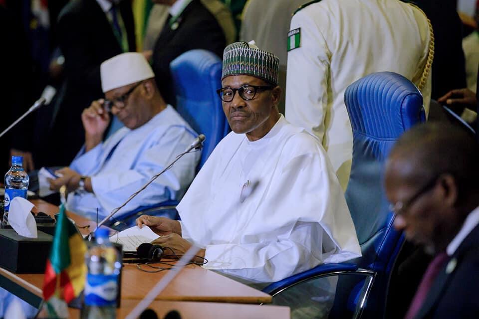 Shugaban Najeriya Muhammadu Buhari yayin taron ECOWAS a birnin Abuja. 16/12/2017.