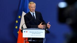 French Economy Minister Bruno Le Maire at a press conference about the STX shipyard this week