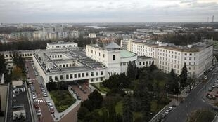 Vue générale du Parlement polonais à Varsovie.