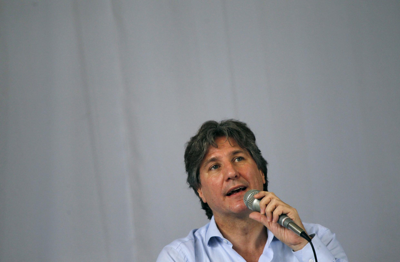 O vice-presidente da Argentina, Amado Boudou, depõe à justiça nesta segunda-feira, 9 de junho de 2014.