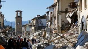 La ville italienne d'Amatrice a été dévastée par le tremblement de terre qui a frappé le pays le 24 août dernier.