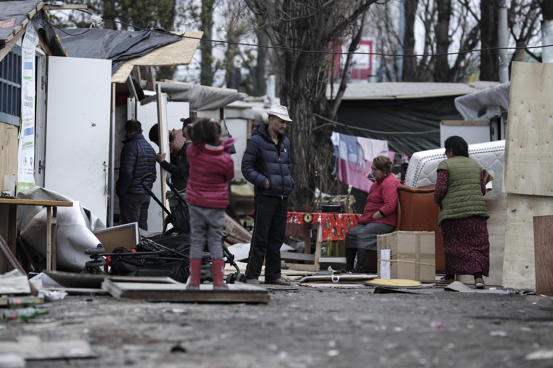 محل زندگی کولیهای رومانیایی در «بوبینی» شهری در حومه پاریس