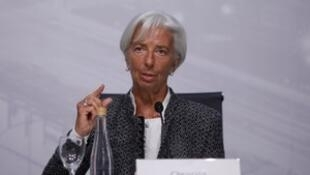 International Monetary Fund (IMF) Managing Director Christine Lagarde attends a news conference in Buenos Aires, Argentina, July 21, 2018.