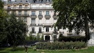 Exterior view of a 5-storey building on the Avenue Foch in 16th district, where according to local media an apartment belonging to Jeffrey Epstein is located in Paris, France, August 12, 2019