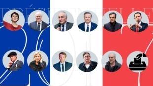 نامزدهای انتخابات ریاست جمهوری در فرانسه