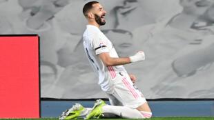 Dan wasan gaban Real Madrid, Karim Benzema.