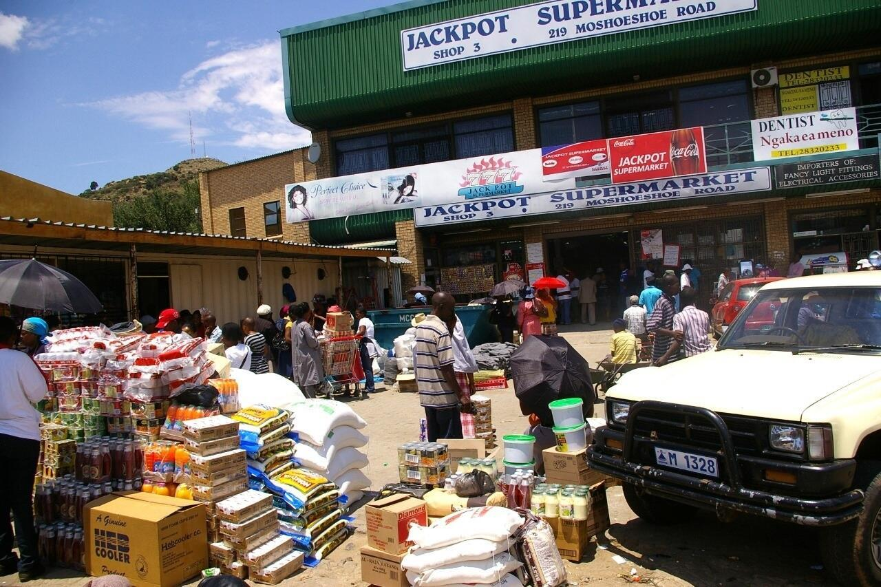 Chinese shops in the capital of Lesotho, Maseru