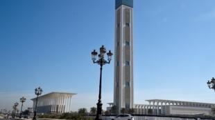 La Grande mosquée d'Alger et son minaret le plus haut du monde, le 14 avril 2019.