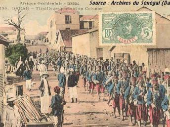 Tirailleurs à Dakar.