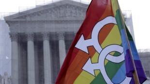 Frente a la Corte Suprema de Estados Unidos, en Washington, este 26 de marzo de 2013.