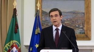 O primeiro-ministro português, Pedro Passos Coelho, fez um discurso à nação neste domingo, 7 de abril de 2013.