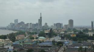 Vue aérienne de Lagos, la plus grande ville du Nigeria et l'une des plus grandes métropoles du continent.