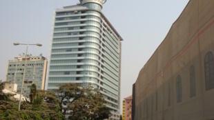 Le siège de la société de pétrole angolaise Sonangol, à Luanda.