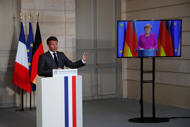Le 18 mai dernier, Emmanuel Macron et Angela Merkel annonçaient en visioconférence un plan de relance de 500 milliards d'euros. Ils se retrouvent ce lundi 29 juin.