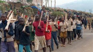 Mayakan 'yan tawayen Hutu na Rwanda.