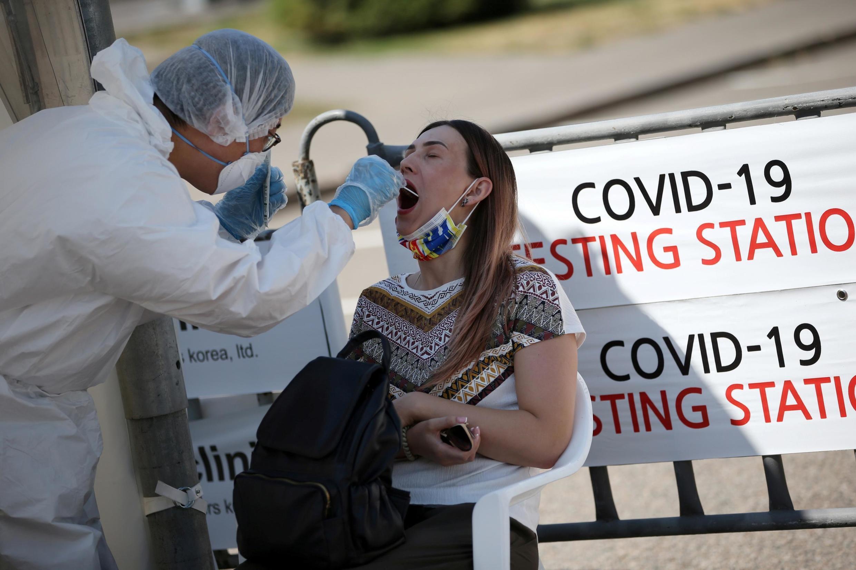 Test au coronavirus à Almaty, au Kazakhstan, le 17 juin 2020.