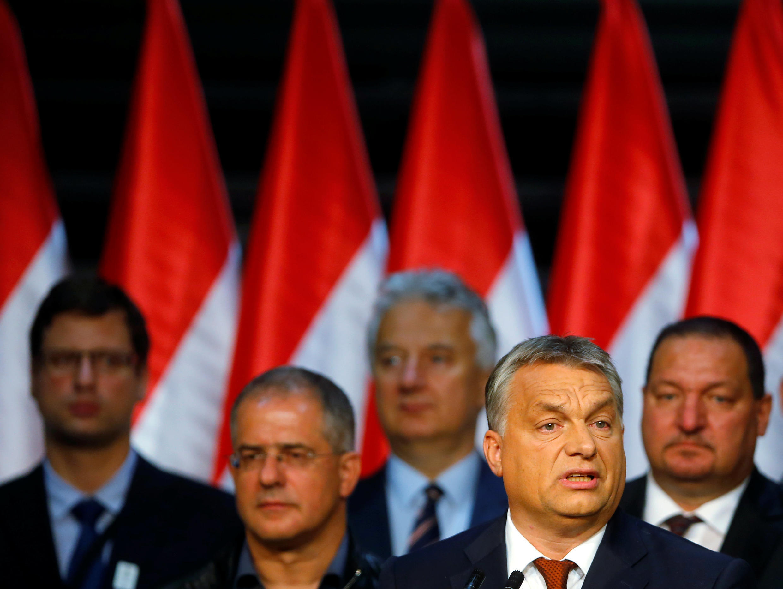 Thủ tướng Hungary Viktor Orban, phát biểu sau cuộc trưng cầu dân ý  về quota người nhập cư. Ảnh tại Budapest, ngày 02/10/2016.