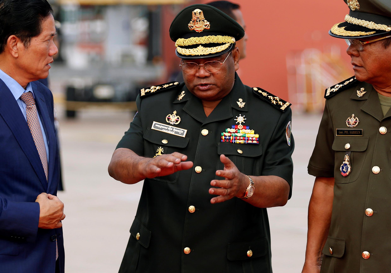 Ảnh minh họa: tướng Hing Bun Hieng, chỉ huy đội cận vệ của thủ tướng Hun Sen. Ảnh ngày 17/04/2018.