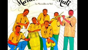 Afiche del grupo Maravillas de Mali, con una mención a la canción emblemático del grupo 'Rendez-vous chez Fatimata'.