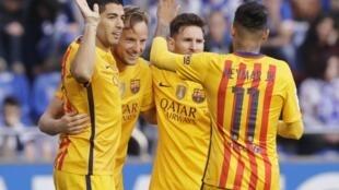 Kwallaye hudu Suarez ya jefa a ragar Deportivo