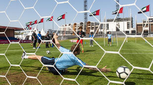 Football at this year's Special Olympics game in Abu Dhabi, UAE