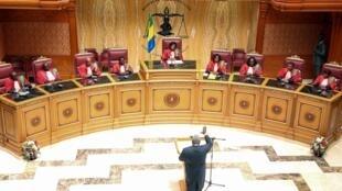 La Cour Constitutionnelle de Libreville, la capitale du Gabon, le 2 mai 2018.