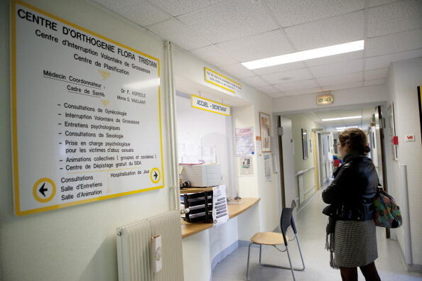 The family planning centre at the Angers hospital. Health ministry statistics show a drop in abortion procedures in hospitals during the first 2020 Covid confinement.