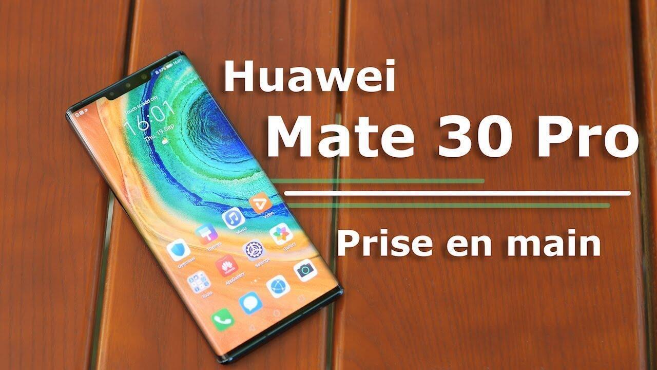圖為華為手機新產品Mate 30