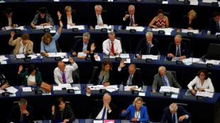Nghị Viện Châu Âu biểu quyết về thủ tục trừng phạt Hungary. Ảnh ngày 12/09/2018.