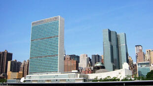 Le siège des Nations unies (ONU), à New York, Etats-Unis.