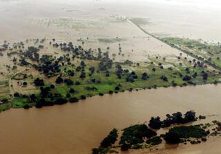 Foto de arquivo das cheias em Moçambique