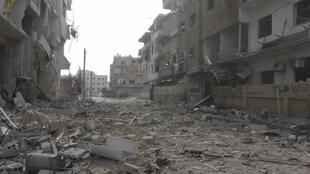 Zona devastada de Daria, arrredores de Damasco, Síria