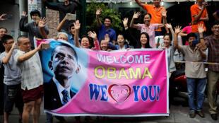 Người dân Thành Phố Hồ Chí Minh đón tổng thống Mỹ Obama ngày 24/05/2016.