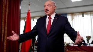 Shugaban kasar Belarus Alexander Lukashenko.