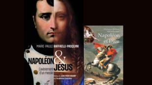 Montage - livres - Napoléon-Jésus_Raffaelli-Pasquini _ Napoléon-Dieu_Bornet