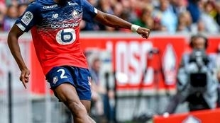 Tiago Djaló, defesa luso-guineense do Lille.