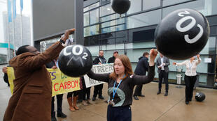 Manifestação durante a COP23, que terminou seu nenhum avanço concreto sobre o regulamento do Acordo de Paris.