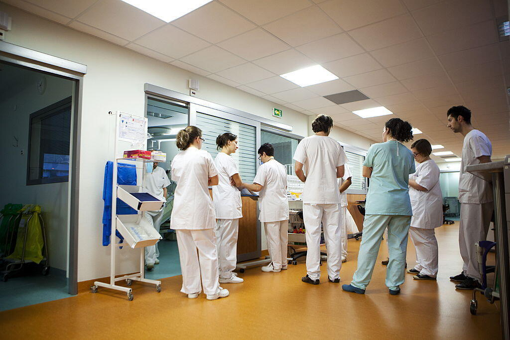 Service d'urgences de l'Hôpital Robert Ballanger à Aulnay-sous-Bois, en région parisienne. (Photo d'illustration)