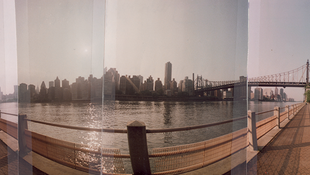 A panoramic view of New York City, 1995
