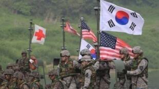 美韩联合军演资料图片