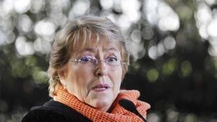 Michelle Bachelet est largement favorite pour la présidentielle de novembre prochain.