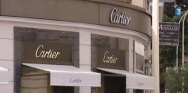 Fachada da joalheria Cartier em Cannes, que foi assaltada nesta terça-feira