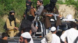 Un groupe de talibans dans le nord-ouest du Pakistan.