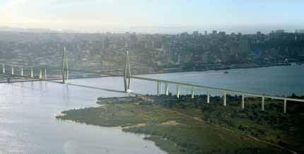 Vue d'architecte du futur point Maputo-Catembe.