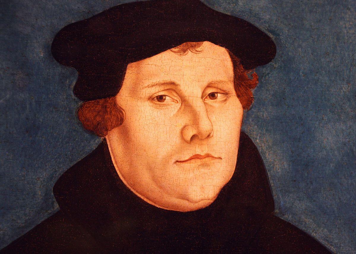 Retrato do teólogo alemão Martinho Luther.
