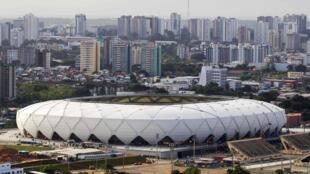 A Arena de Manaus, um dos estádios em que a seleção inglesa vai jogar durante a Copa.