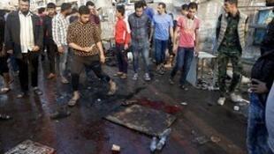 伊拉克巴格达发生爆炸袭击。2016-02-28